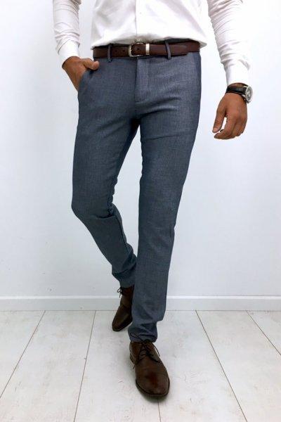 Spodnie materiałowe H52 - niebieskie