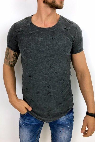T shirt grafit z przetarciami