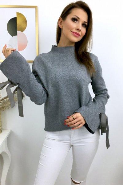 Sweter LUX - szarość