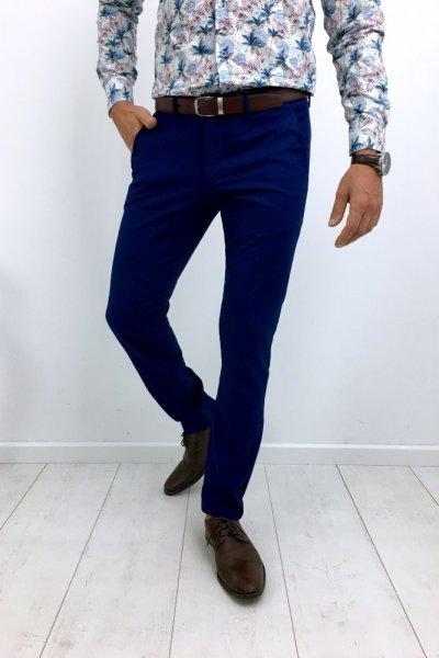 Spodnie meskie materiałowe błękit