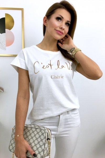 T - shirt C'est la VIE - white