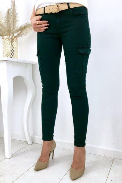 Spodnie bojówki damskie FAMOUS - green ( DM9159F-77 )