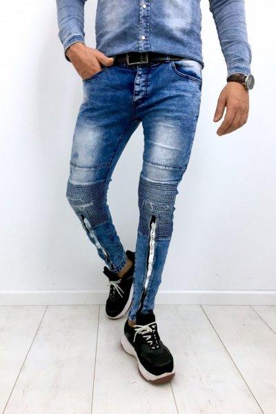 Spodnie męskie z przetarciami KA1199-2