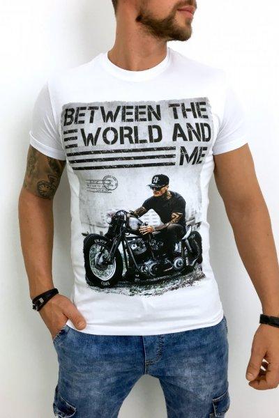T shirt męski biały BTW