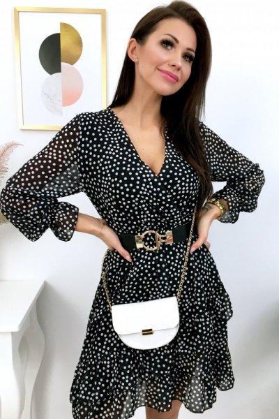 Sukienka w groszki - black