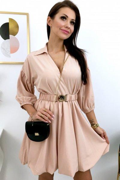 Sukienka VERONA - beige pink