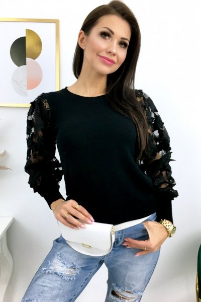Sweter BUTTERFLY - black
