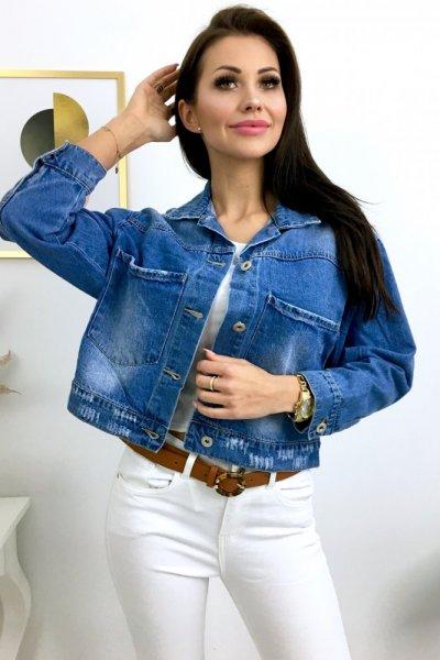 Katana/kurtka jeans OVERSIZE SHORT clasic - blue