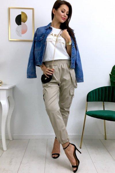 Spodnie bojówki LUXX - beige