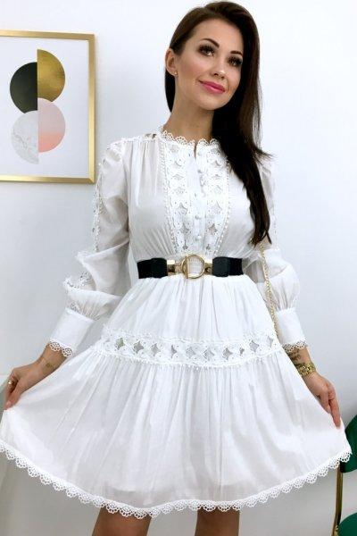 Sukienka PALERMO satyna - white