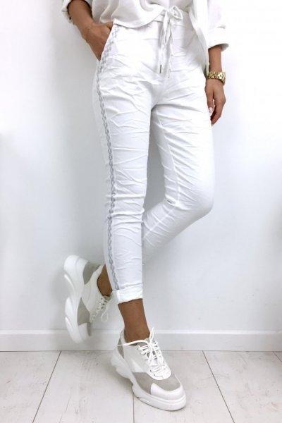 Spodnie BAGGY - white