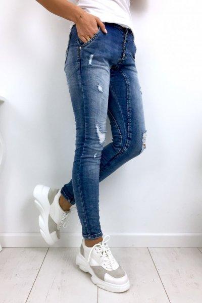 Spodnie jeansy na guziki - blue
