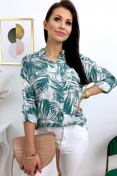 Koszula ShePARIS print - white/green