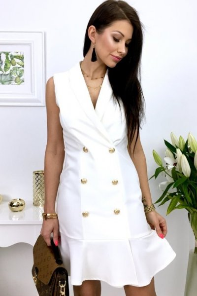 Sukienka CLASSY - white