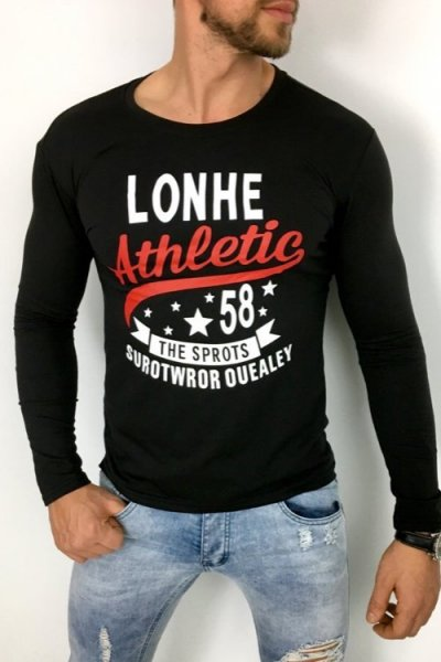Longsleeve Athletic czarny