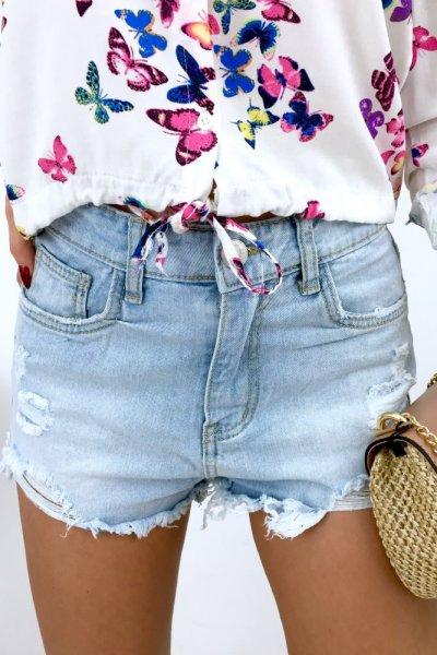 Szorty jeans SEXY - blue