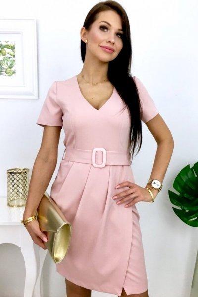 Sukienka LiKKE E07 - zakładana - pink
