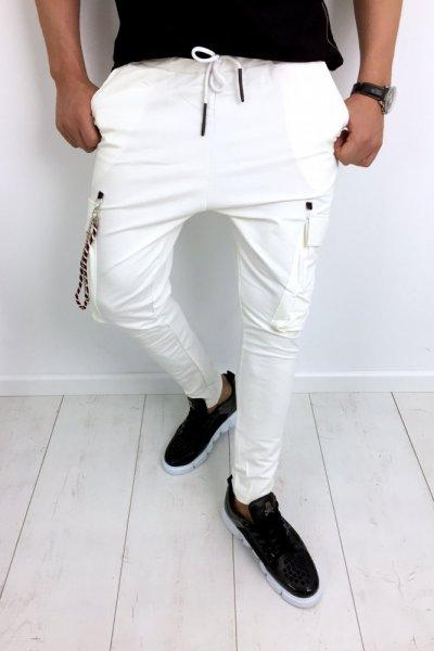 Spodnie dresowe ecru 2545