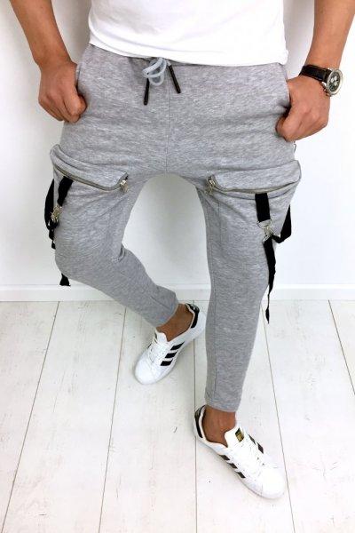 Spodnie dresowe szare 2688