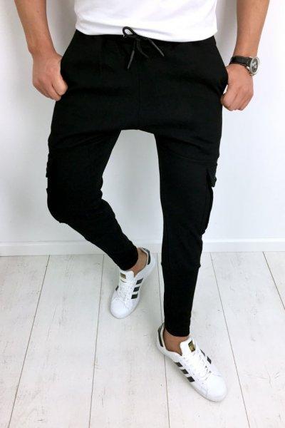 Spodnie dresowe czarne 2540