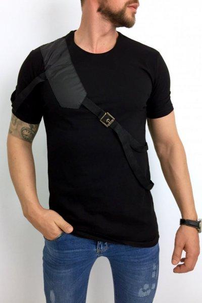 T shirt męski 20-Y284 czarny