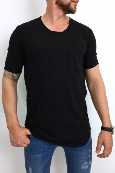 T shirt męski 20-Y027 CZARNY