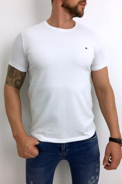 T shirt męski biały gladki