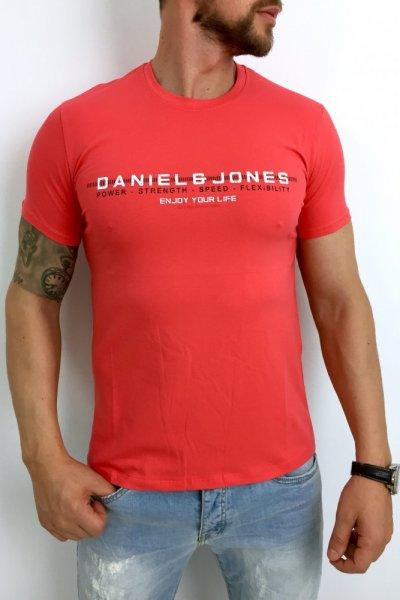 T shirt męski koral D&J