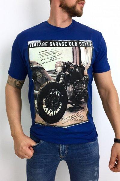 T shirt Vintage Garage granat