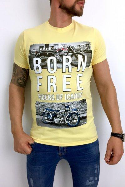 T shirt Born Free żółty