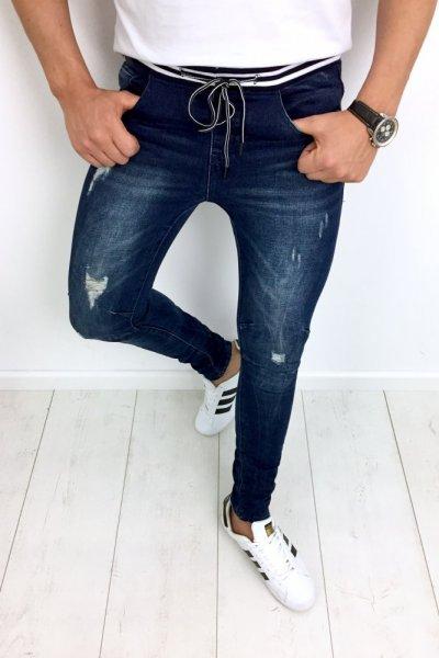 Spodnie jeans z delikatnymi przetarciami NC4941