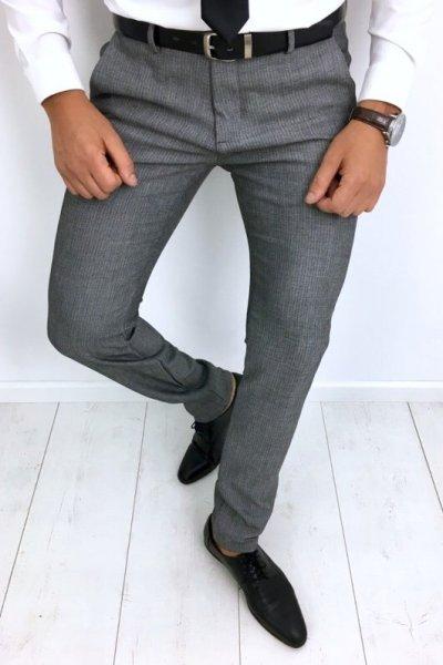 Spodnie materiałowe szare H52