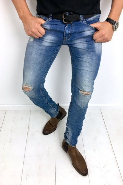 Spodnie męskie jeans RM-8303