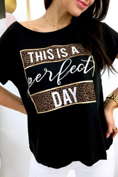 T - shirt PERFECT DAY - black