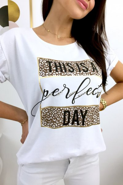 T - shirt PERFECT DAY - white