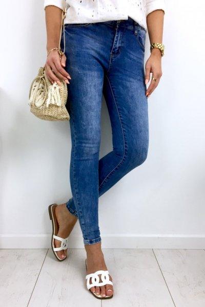 Spodnie jeansy SARA - blue