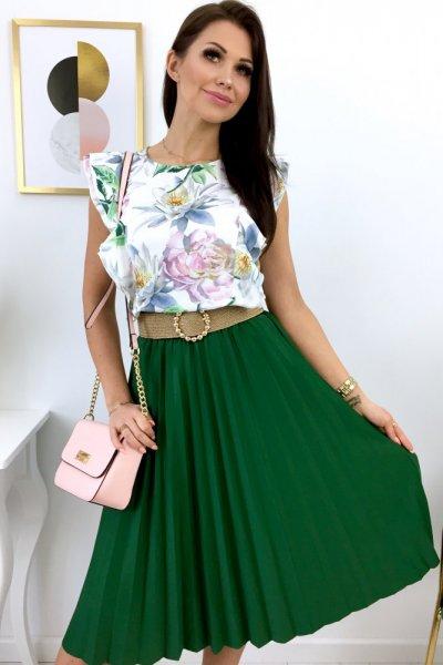 Spódnica DOROTTY midi - zielona