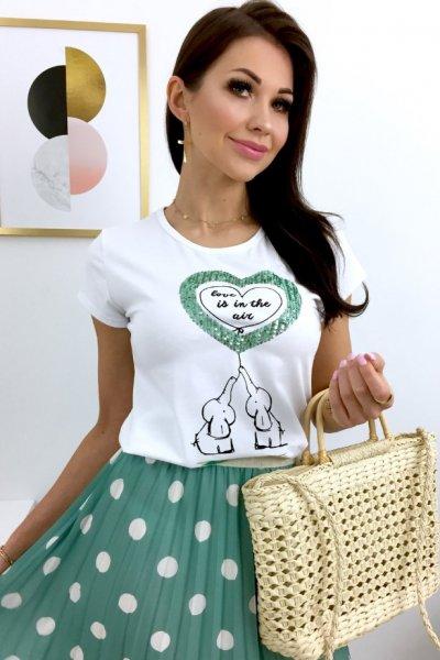 T - shirt MINT LOVE - white