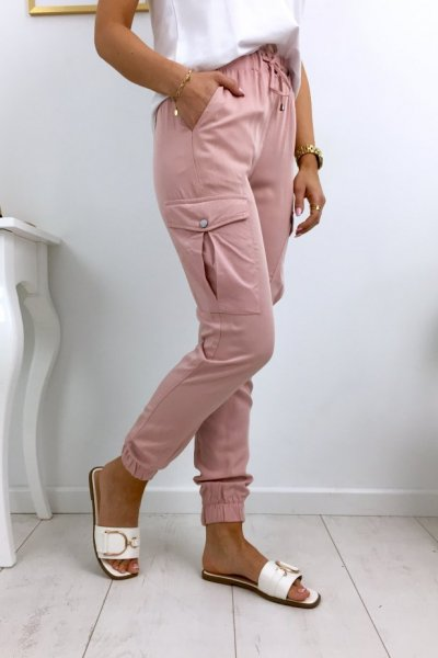 Spodnie bojówki CESS - pink