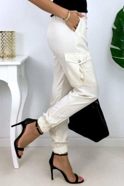 Spodnie bojówki CESS-jasny beż