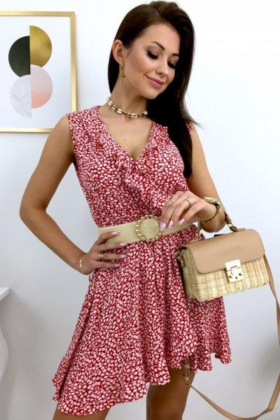 Sukienka MISTIX - red/white