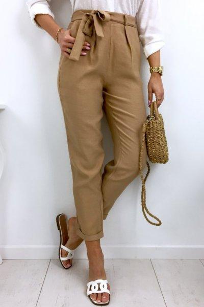Spodnie SENSATION summer - camel