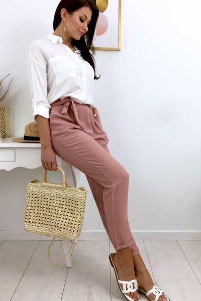 Spodnie SENSATION summer - pink