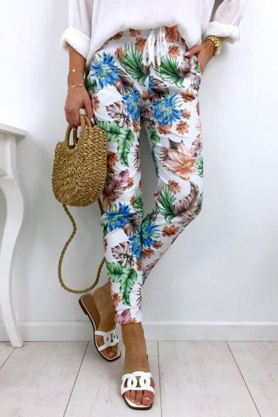 Spodnie BAGGY Flowers 2