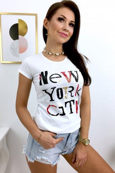 T - shirt NEW YORK - white