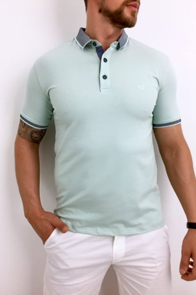 T shirt Polo miętowy