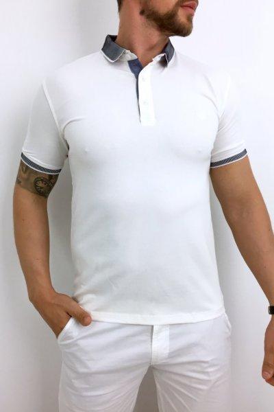 T shirt polo biały