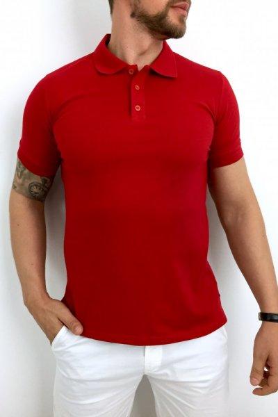 T shirt Polo czerwony