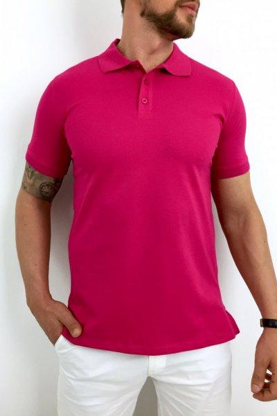 T shirt Polo Fuksja