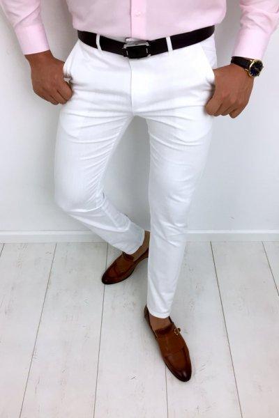 Spodnie męskie białe White 3